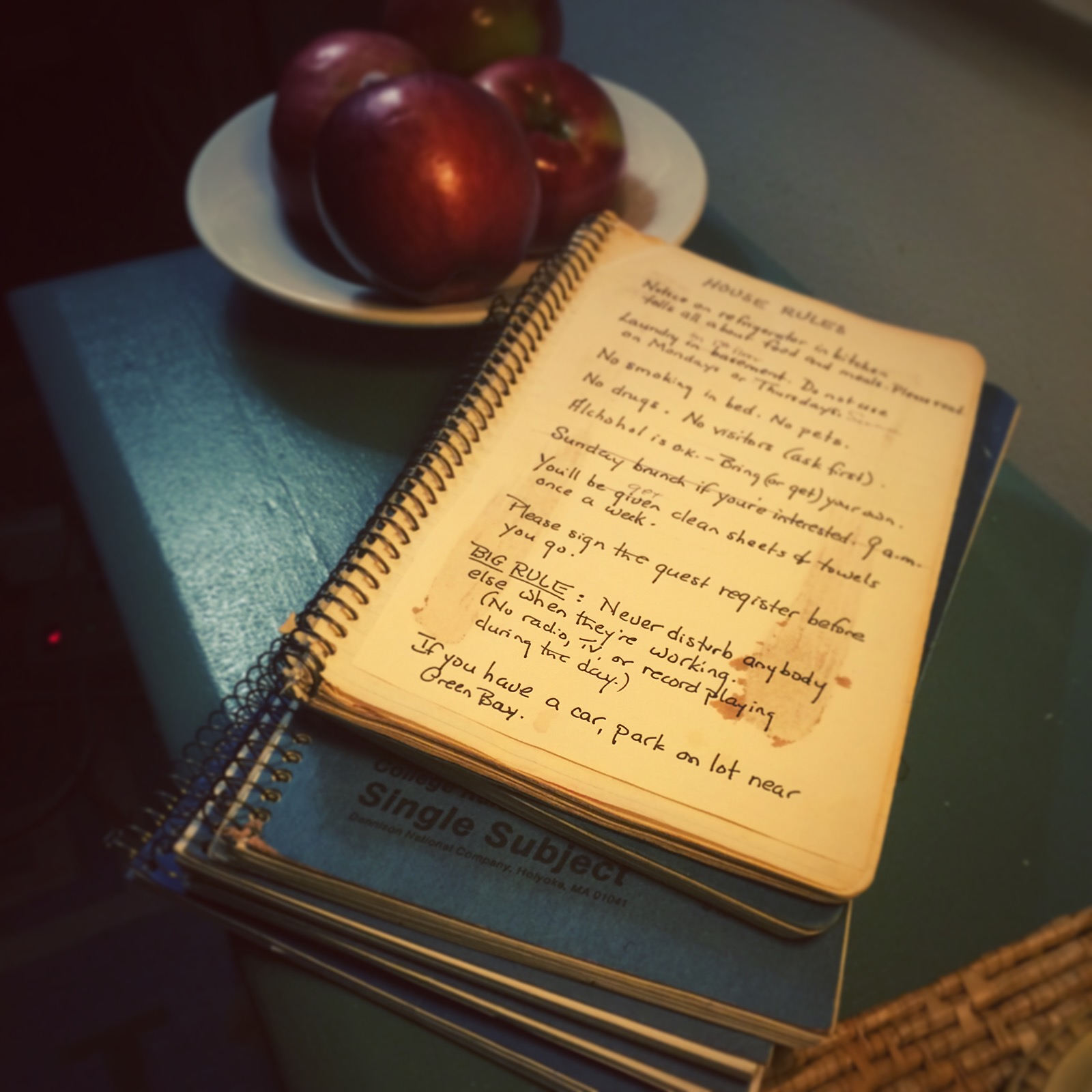 Beach Room journals, from 1981-Feb, 2015